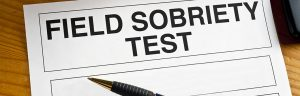 field sobriety test